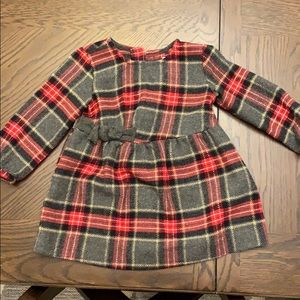 Wool plaid dress. 24 months